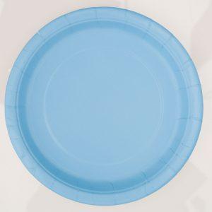 8 Powder Blue 9 Pulgadas Plates