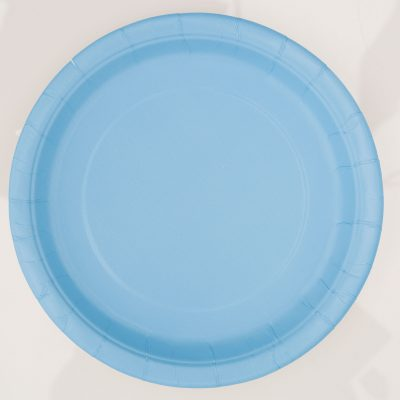 8 Powder Blue 9 Pulgadas Plates