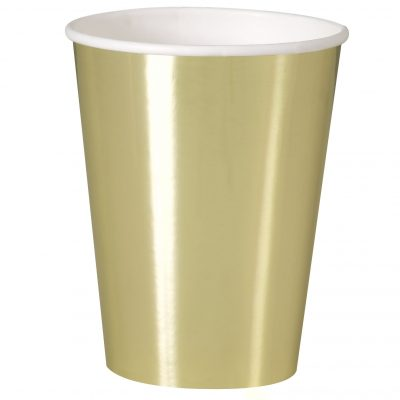 8 Gold 12oz Cups-Fb