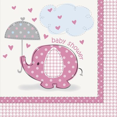 16 Umbrellaphants Pink Lunch Napkins