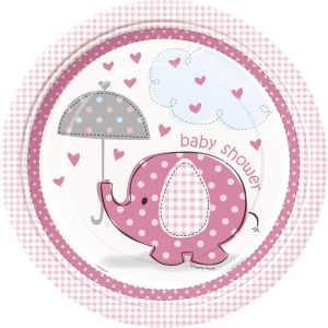 8 PLATOS GRANDES ELEFANTE Pink