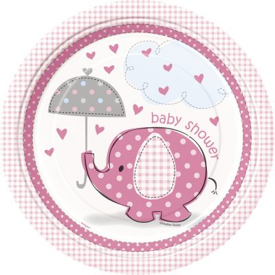 8 Umbrellaphants Pink 9 Pulgadas Plates