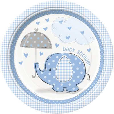8 Umbrellaphants Blue 9 Pulgadas Plates