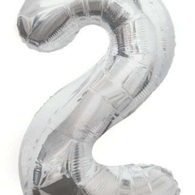 GLOBO GIGANTE PLATA NUMERAL-2
