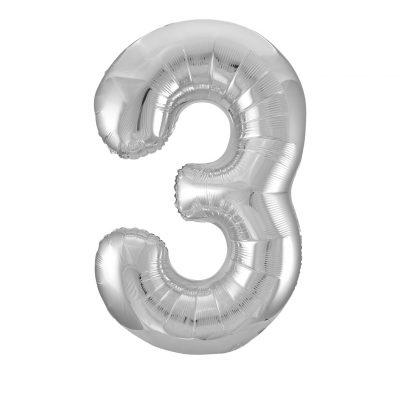 34 Pulgadas Pkg Silver Foil Balloon-3
