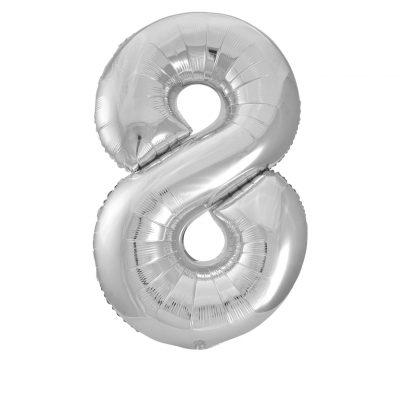 34 Pulgadas Pkg Silver Foil Balloon-8