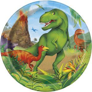 8 Dinosaur 7 Pulgadas Plates