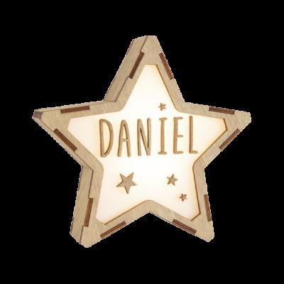Estrella de madera personalizada ESTRELLAS