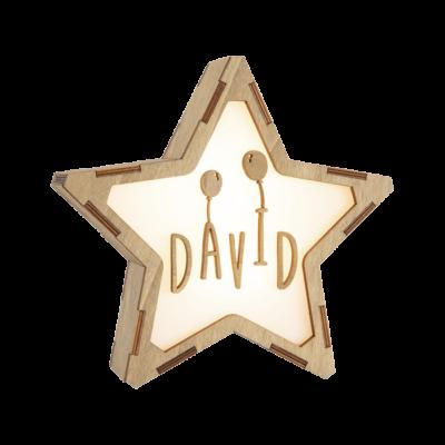 Estrella de madera personalizada GLOBOS