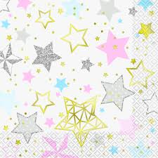 16 Twinkle Little Star Lunch Napkins-Fs