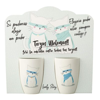 Taza doble Gatos