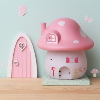 lampara sobremesa seta rosa3