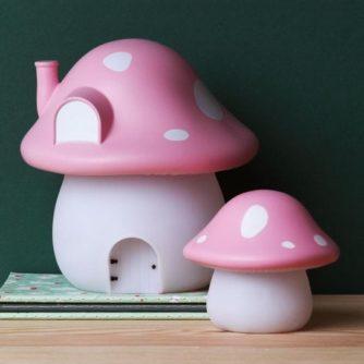 lampara sobremesa seta rosa4