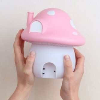 lampara sobremesa seta rosa5