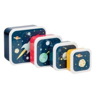 set 4 cajas almuerzo espacio1