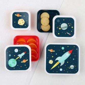 set 4 cajas almuerzo espacio2