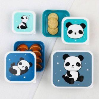 set 4 cajas almuerzo panda2