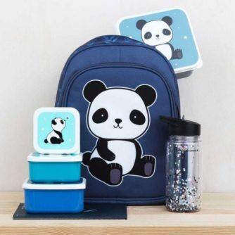 set 4 cajas almuerzo panda5