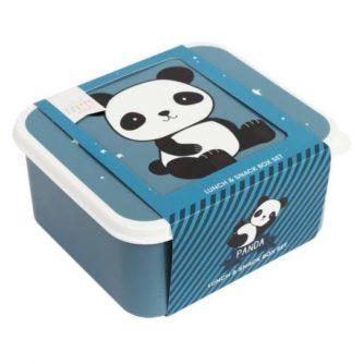 set 4 cajas almuerzo panda6