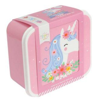 set 4 cajas almuerzo unicornio5