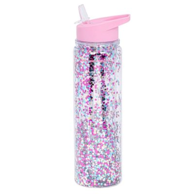 BOTELLA XL BRILLO rosa/multicolor