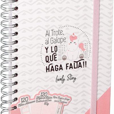 """Cuaderno A5 """"AL TROTE, AL GALOPE Y LO QUE HAGA FALTA!!"""""""