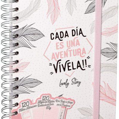 """Cuaderno A5 """"CADA DÍA ES UNA AVENTURA, VÍVELA !!"""""""